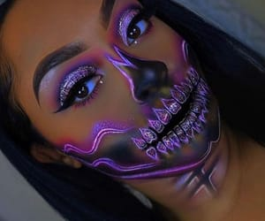 makeup, Halloween, and skull image