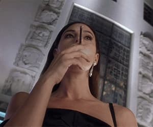 gif, monica bellucci, and smoking image