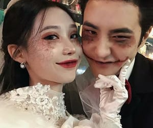 asian, couple, and Halloween image