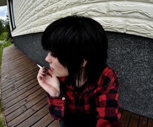 alternative, cigarette, and red image