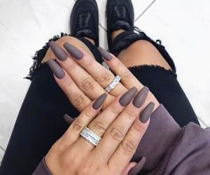 diamonds, jewelry, and nails image