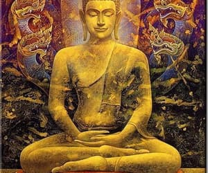 3d, art, and buddhapainting image