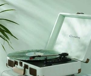 music, green, and aesthetic image