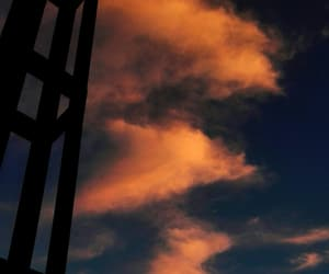 clouds, evening, and light image