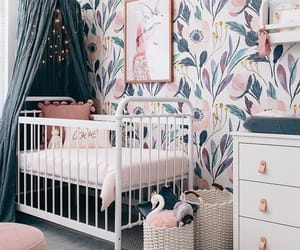 baby room, flowers, and home image