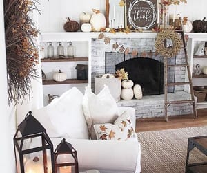 candles, cozy, and pumpkins image