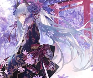 anime, kimono, and anime girl image