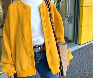yellow, girl, and fashion image