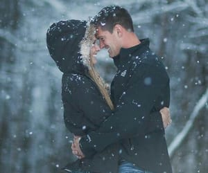 boy, cold, and girl image