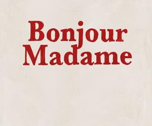 quotes, red, and bonjour image