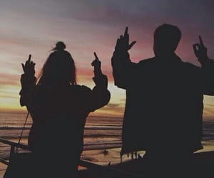 sunset, bea miller, and couple image