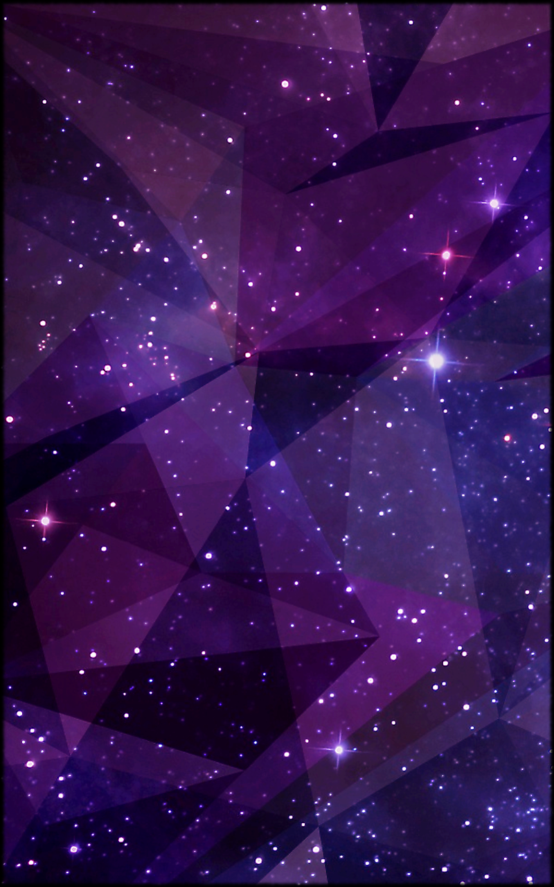 Purple Starry Abstract Art Mobile Phone Wallpaper 1200x1920