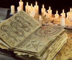 candles, magic, and witch image