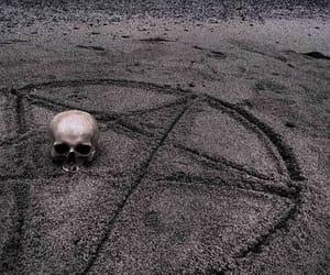 skull, dark, and pentagram image