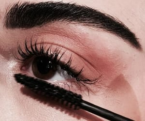 makeup, beauty, and mascara image