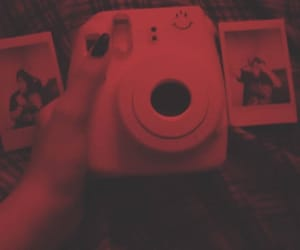 red, polaroid, and camera image