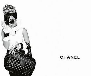 chanel, bag, and black and white image