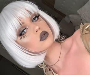 beauty, girl, and halloween makeup image