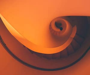orange, staircase, and spiral image