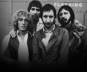 bands, black and white, and keith moon image