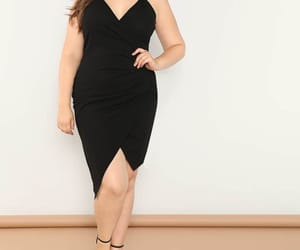beautiful woman, confidence, and little black dress image
