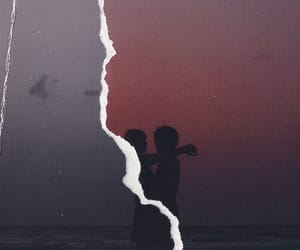 broken, love, and pictures at the sunset image