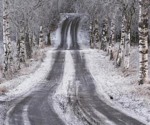 road, scenic, and snow image