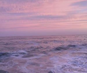beach, lavender, and lilac image