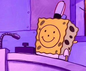 spongebob, sad, and smile image