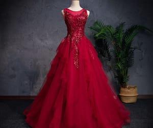 formal dresses, classic prom dress, and cascading ruffles dress image