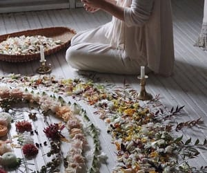 flowers, witch, and magic image