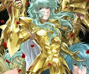 anime, pisces, and gold saint image