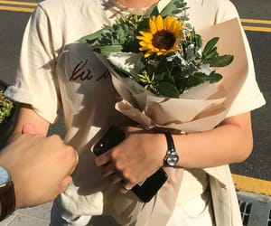 couple, sunflowers, and tumblr image