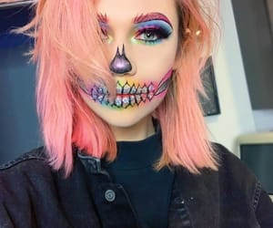 jessie paege, Halloween, and rainbow image