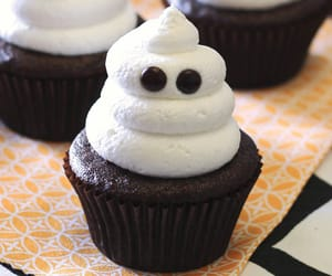 cupcake, food, and ghost image