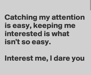 attention, dare, and Easy image