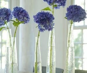 flowers, house, and hydrangeas image