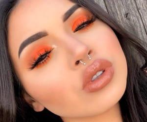 orange and makeup image
