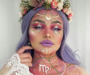 makeup, virgo, and zodiac image