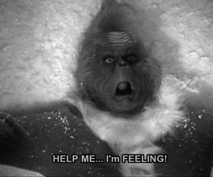 black and white, grinch, and Jim Carey image