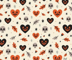wallpaper, Halloween, and pumpkin image