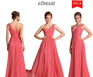 hot sale, coral dress, and one strap image