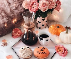 donuts, style, and coffee image
