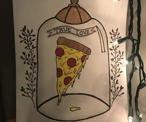 draw, food, and pizza image