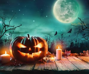 automne, bougie, and Halloween image