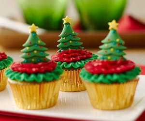 christmas, food, and cupcakes image