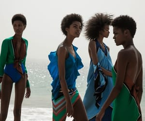 fashion, models, and tropical image