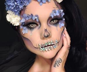 Halloween, make, and makeup image