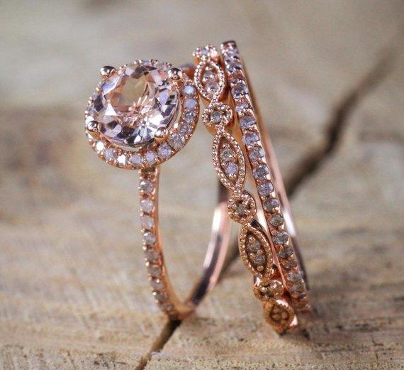etsy, wedding, and diamond rings image