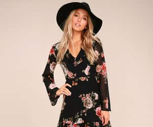 party dresses, chic fashion, and floral print dresses image